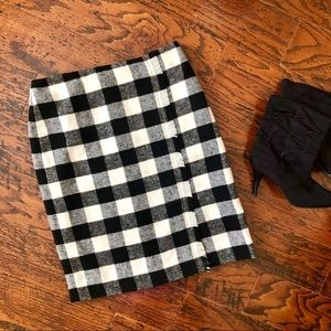 Talbots Wool Blend Faux-Wrap Pencil Skirt
